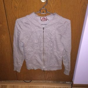 Juicy Couture gray dotted hood sweatshirt